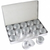 Aluminium Box with 15 Pcs Containers 36mm with clear Lid